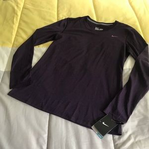 NWT Women's Nike Dri-Fit Long Sleeve Running Tee M